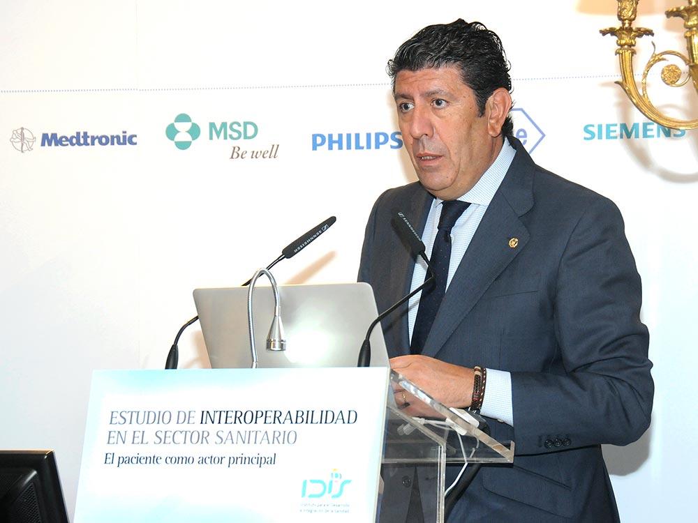 Manuel Vilches presentó el modelo de interoperabilidad de IDIS