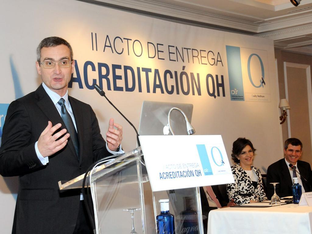 Jesús Bonilla, de Sanitas, habló en nombre de las organizaciones acreditadas