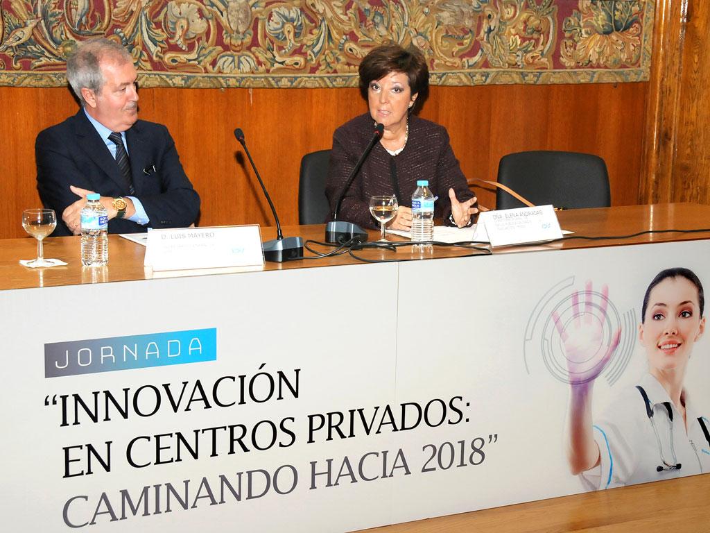Acto de clausura a cargo de Luis Mayero (Secretario General-IDIS) y Elena Andradas (Directora General de Salud Pública, Calidad e Innovación del MSSSI)