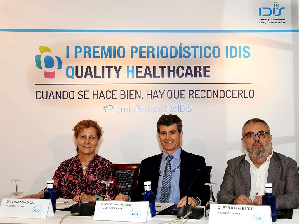 Mesa Inaugural I Premio Periodístico IDIS