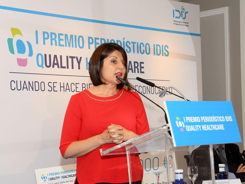 Nuria Briongos dirigió unas palabras de agradecimiento