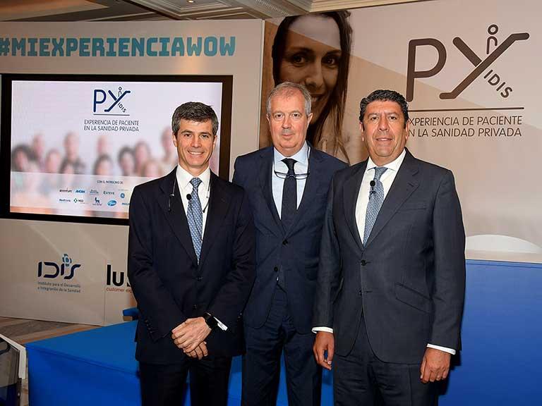 Adolfo Fernández-Valmayor, Luis Mayero y Manuel Vilches (IDIS)