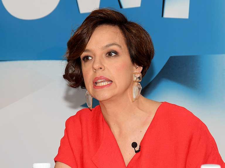 La presentadora, Cristina Villanueva