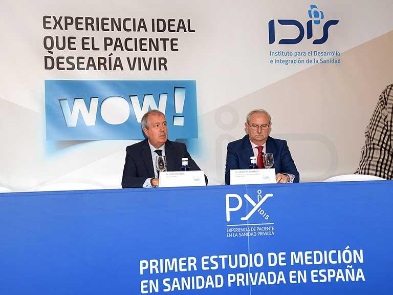 Luis Mayero y Serafín Romero durante la clausura de la Jornada