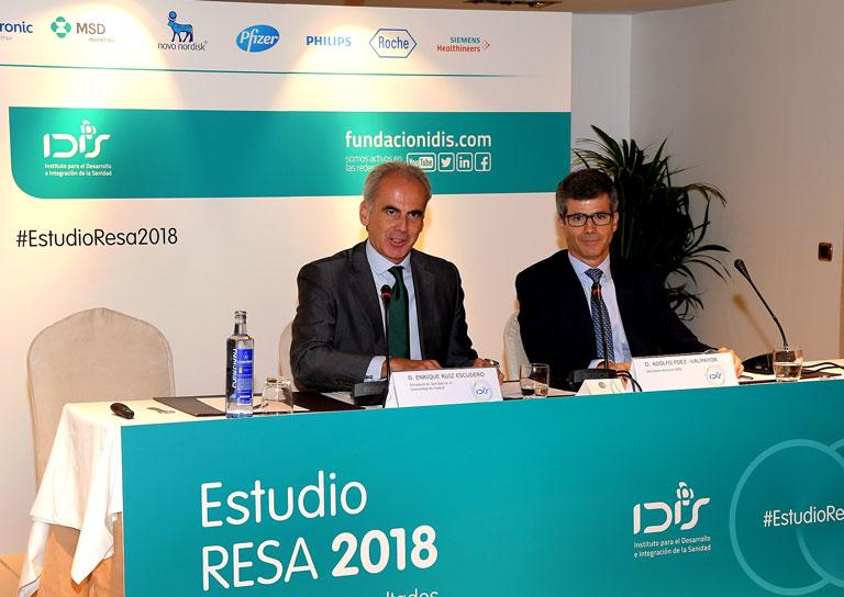 Enrique Ruiz Escudero y Adolfo Fdez.-Valmayor en la inauguracion de la Jornada
