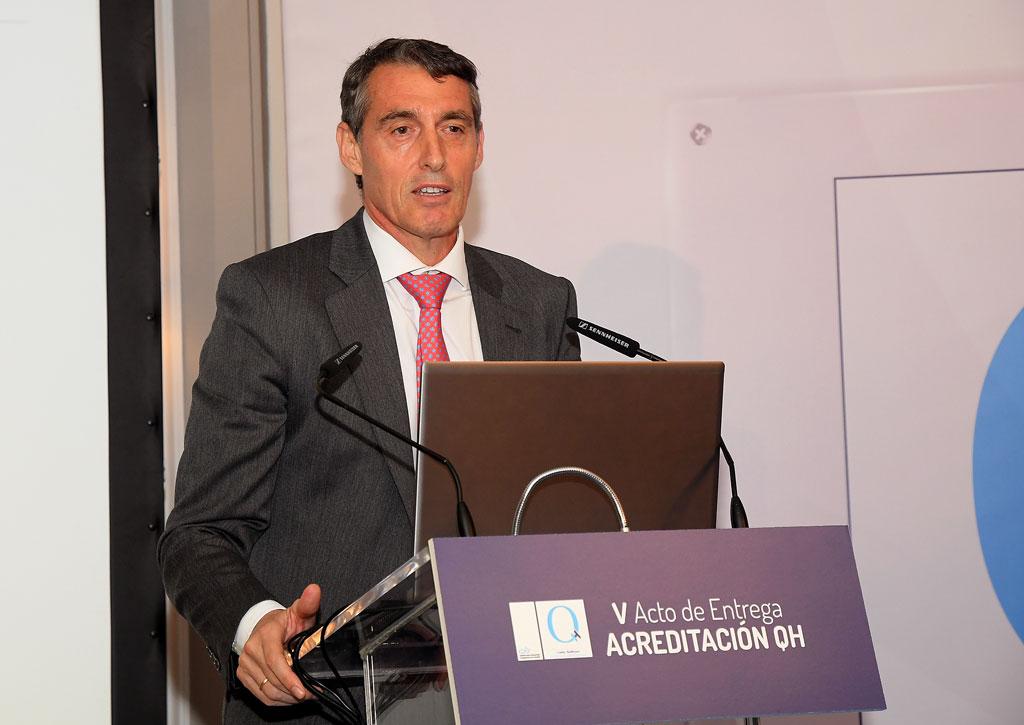 Juan Antonio Álvaro, de Quirónsalud, habló en nombre de los acreditados
