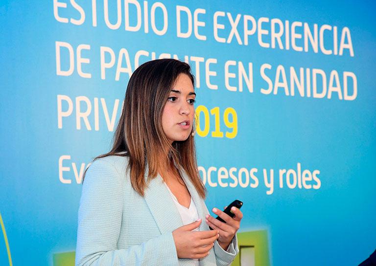 Elena Garrido (Lukkap) durante su intervención