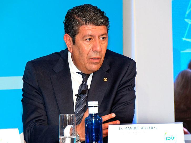 Manuel Vilches durante el debate